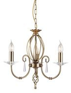 Elstead Lighting Aegean AG3 AGED BRASS