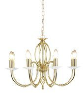 Elstead Lighting Aegean AG8 POL BRASS