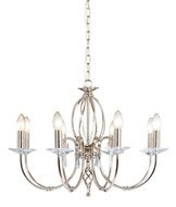 Elstead Lighting Aegean AG8 POL NICKEL